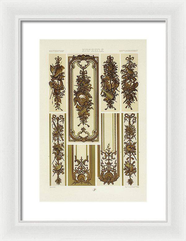 Vintage Illustration of Decorative Patterns - Framed Print from Wallasso - The Wall Art Superstore