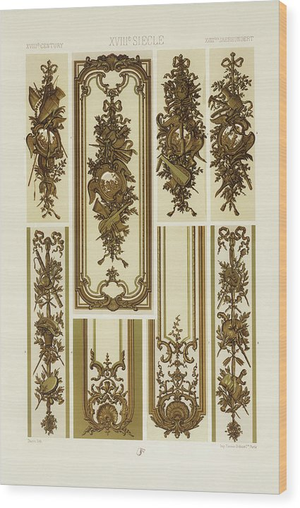 Vintage Illustration of Decorative Patterns - Wood Print from Wallasso - The Wall Art Superstore