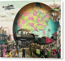 Vintage Illustration of Twentieth Century Transportation - Canvas Print from Wallasso - The Wall Art Superstore
