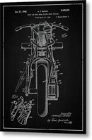 Vintage Indian Motorcycle Patent, 1948 - Metal Print from Wallasso - The Wall Art Superstore