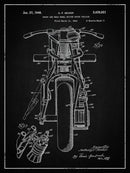 Vintage Indian Motorcycle Patent, 1948 - Art Print from Wallasso - The Wall Art Superstore