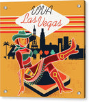 Vintage Inspired Viva Las Vegas Design - Acrylic Print from Wallasso - The Wall Art Superstore