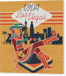 Vintage Inspired Viva Las Vegas Design - Wood Print from Wallasso - The Wall Art Superstore