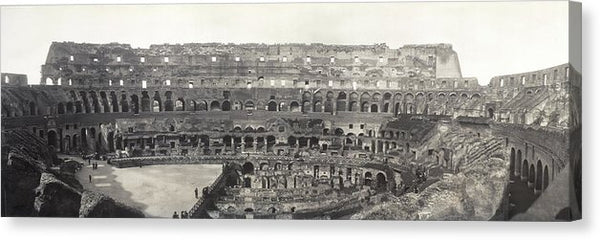 Vintage Interior View of Colosseum, 1909 - Canvas Print from Wallasso - The Wall Art Superstore