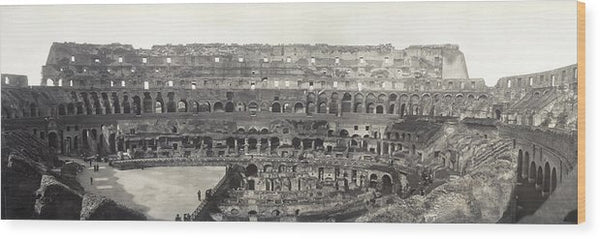 Vintage Interior View of Colosseum, 1909 - Wood Print from Wallasso - The Wall Art Superstore