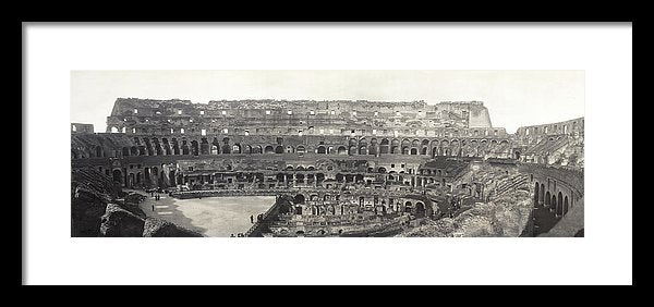 Vintage Interior View of Colosseum, 1909 - Framed Print from Wallasso - The Wall Art Superstore