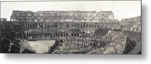 Vintage Interior View of Colosseum, 1909 - Metal Print from Wallasso - The Wall Art Superstore