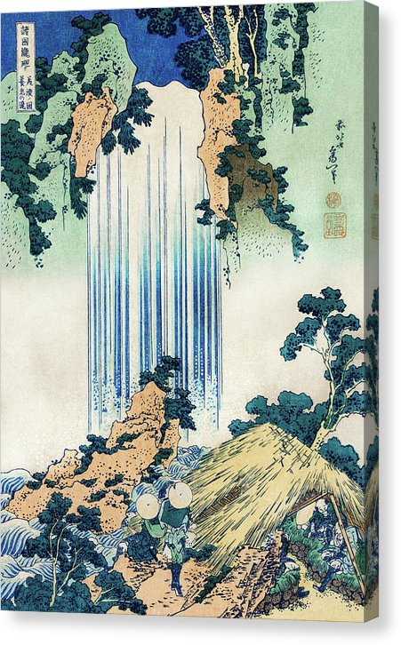 Vintage Japanese Illustration of Waterfall, 1820 - Canvas Print from Wallasso - The Wall Art Superstore