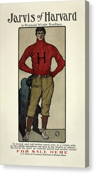 Vintage Jarvis of Harvard Football Poster, 1901 - Canvas Print from Wallasso - The Wall Art Superstore