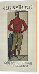 Vintage Jarvis of Harvard Football Poster, 1901 - Wood Print from Wallasso - The Wall Art Superstore