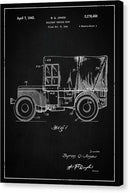 Vintage Jeep Patent, 1941 - Canvas Print from Wallasso - The Wall Art Superstore