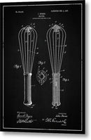 Vintage Kitchen Whisk Patent, 1907 - Metal Print from Wallasso - The Wall Art Superstore