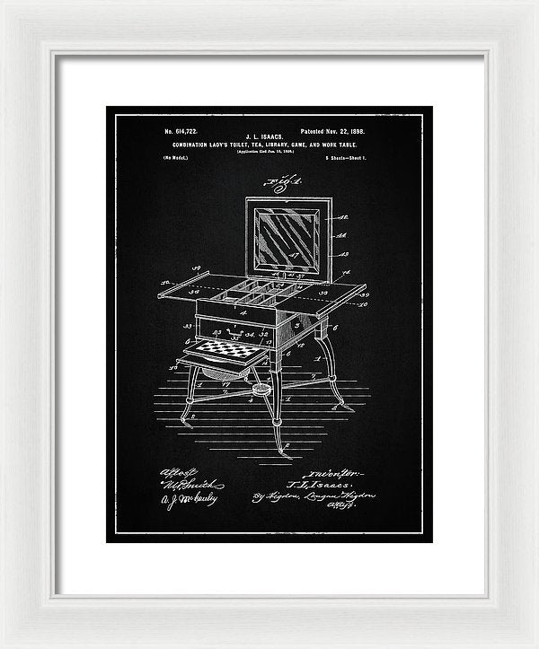 Vintage Ladies Vanity Detail Patent, 1898 - Framed Print from Wallasso - The Wall Art Superstore