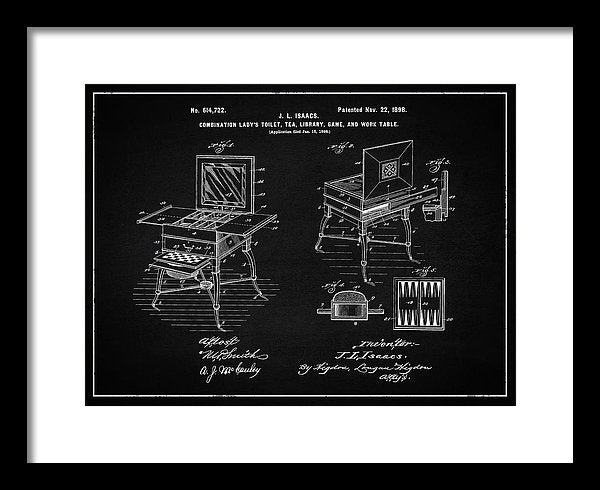 Vintage Ladies Vanity Patent, 1898 - Framed Print from Wallasso - The Wall Art Superstore