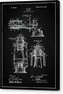 Vintage Lantern Patent, 1899 - Canvas Print from Wallasso - The Wall Art Superstore