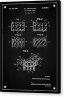 Vintage Lego Brick Patent, 1964 - Acrylic Print from Wallasso - The Wall Art Superstore