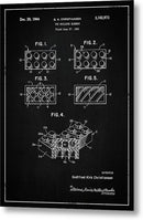 Vintage Lego Brick Patent, 1964 - Metal Print from Wallasso - The Wall Art Superstore