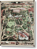Vintage Map of New York City Central Park From 1860 - Metal Print from Wallasso - The Wall Art Superstore