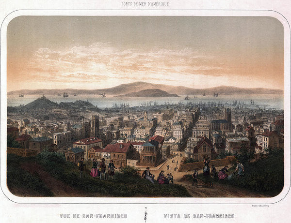 Vintage Map of San Francisco, California From 1846 - Art Print from Wallasso - The Wall Art Superstore