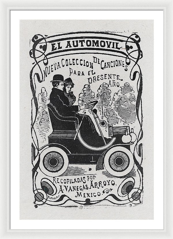 Vintage Mexican Automobile Poster - Framed Print from Wallasso - The Wall Art Superstore