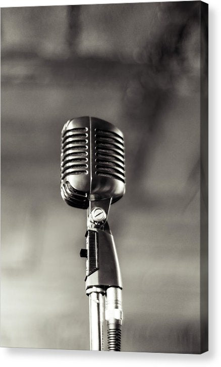 Vintage Microphone - Canvas Print from Wallasso - The Wall Art Superstore