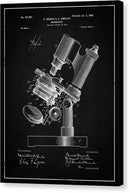 Vintage Microscope Patent, 1899 - Canvas Print from Wallasso - The Wall Art Superstore