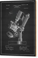 Vintage Microscope Patent, 1899 - Wood Print from Wallasso - The Wall Art Superstore