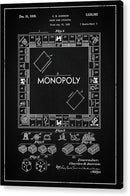 Vintage Monopoly Board Game Patent, 1935 - Acrylic Print from Wallasso - The Wall Art Superstore
