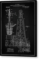 Vintage Oil Rig Patent, 1911 - Acrylic Print from Wallasso - The Wall Art Superstore