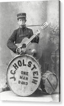 Vintage One Man Band Musician - Acrylic Print from Wallasso - The Wall Art Superstore