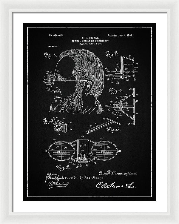 Vintage Optical Measuring Instrument Patent, 1899 - Framed Print from Wallasso - The Wall Art Superstore