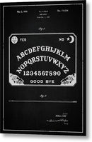Vintage Ouija Board Patent, 1939 - Metal Print from Wallasso - The Wall Art Superstore