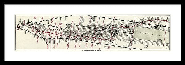 Vintage Panoramic Map of New York City Hotels and Theaters From 1906 - Framed Print from Wallasso - The Wall Art Superstore