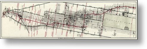 Vintage Panoramic Map of New York City Hotels and Theaters From 1906 - Metal Print from Wallasso - The Wall Art Superstore