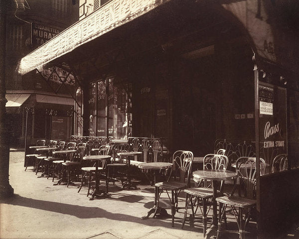 Vintage Paris Cafe, 1924 - Art Print from Wallasso - The Wall Art Superstore