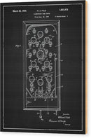 Vintage Pinball Machine Patent, 1934 - Wood Print from Wallasso - The Wall Art Superstore