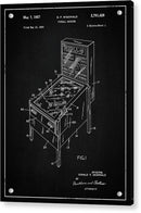 Vintage Pinball Machine Patent, 1957 - Acrylic Print from Wallasso - The Wall Art Superstore