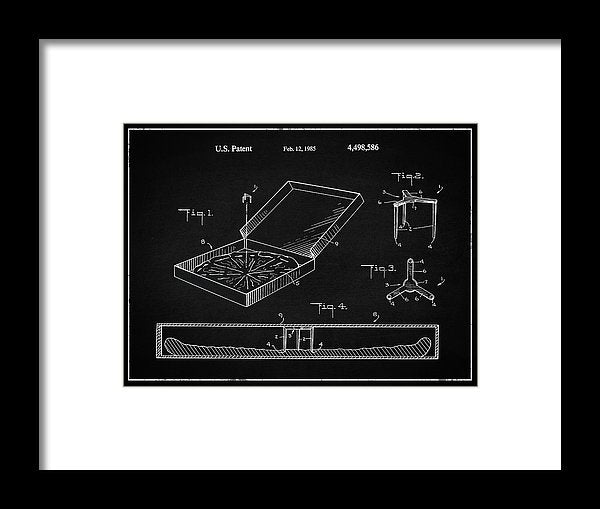 Vintage Pizza Box Patent, 1985 - Framed Print from Wallasso - The Wall Art Superstore