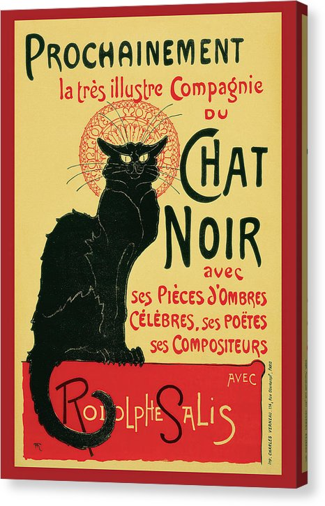 Vintage Prochainement Tournee Du Chat Noir Poster, 1896 - Canvas Print from Wallasso - The Wall Art Superstore