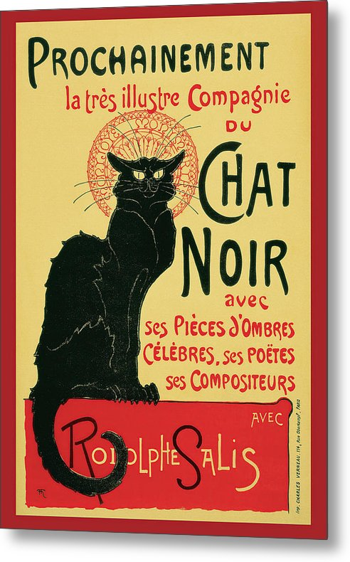 Vintage Prochainement Tournee Du Chat Noir Poster, 1896 - Metal Print from Wallasso - The Wall Art Superstore