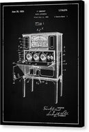 Vintage Radio Patent, 1929 - Canvas Print from Wallasso - The Wall Art Superstore