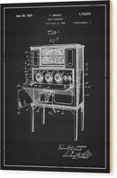 Vintage Radio Patent, 1929 - Wood Print from Wallasso - The Wall Art Superstore