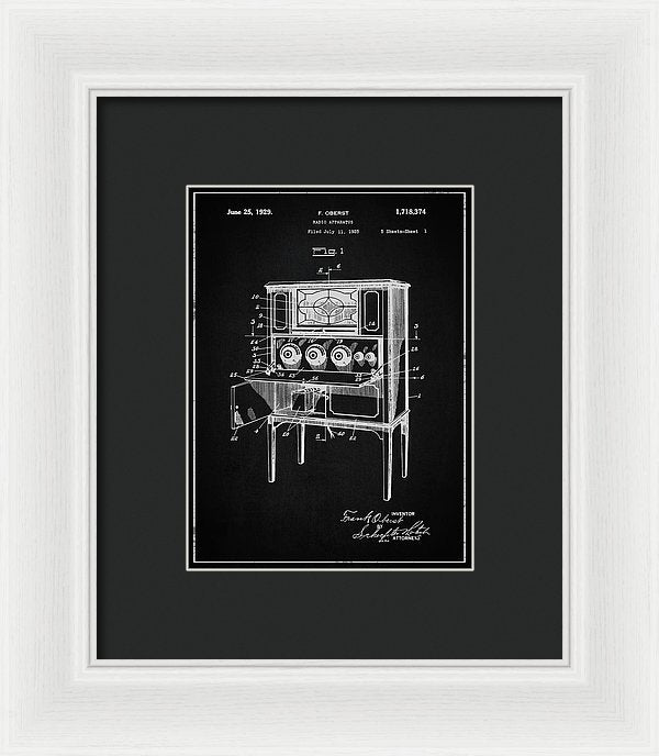 Vintage Radio Patent, 1929 - Framed Print from Wallasso - The Wall Art Superstore
