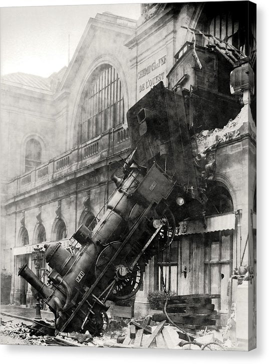 Vintage Railroad Accident, 1895 - Canvas Print from Wallasso - The Wall Art Superstore