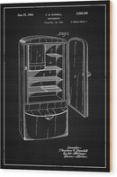 Vintage Refrigerator Patent, 1944 - Wood Print from Wallasso - The Wall Art Superstore
