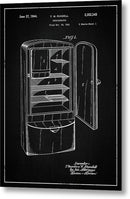 Vintage Refrigerator Patent, 1944 - Metal Print from Wallasso - The Wall Art Superstore