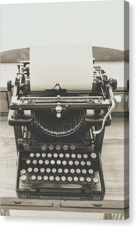 Vintage Remington Standard Typewriter - Canvas Print from Wallasso - The Wall Art Superstore