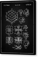 Vintage Rubik's Cube Patent, 1983 - Canvas Print from Wallasso - The Wall Art Superstore