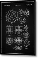 Vintage Rubik's Cube Patent, 1983 - Metal Print from Wallasso - The Wall Art Superstore