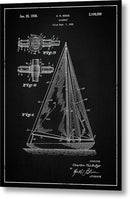 Vintage Sailboat Patent, 1938 - Metal Print from Wallasso - The Wall Art Superstore